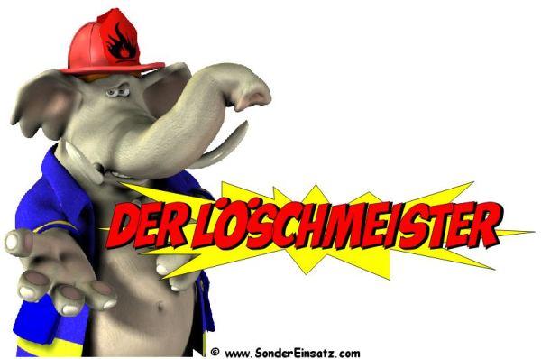 Feuerwehr Cartoon - Der Löschmeister